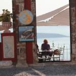 Cafenea in Santorini