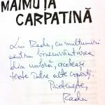 autograf maimuta carpatina