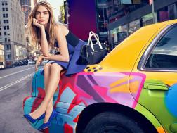 Cara Delevingne in campania DKNY
