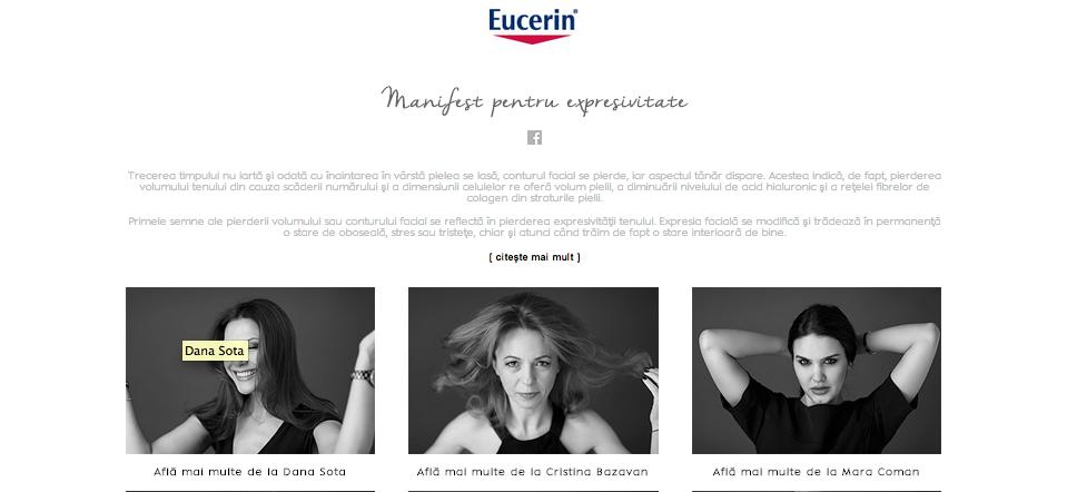 manifest pentru expresivitate eucerin