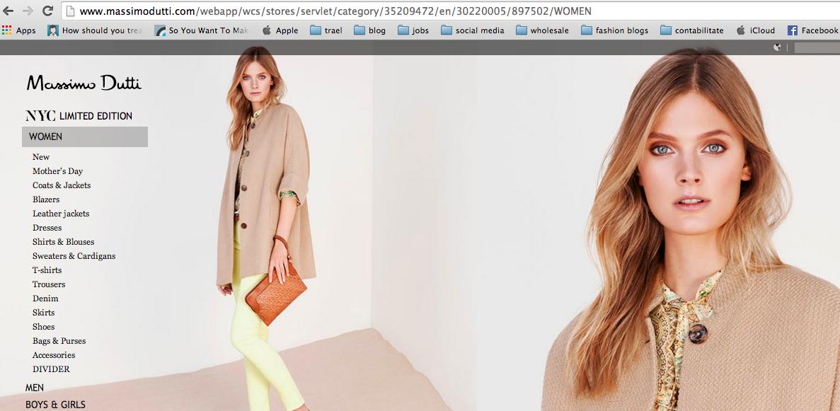 Online shopping Massimo Dutti